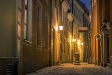 Riga Old Town In Winter Covere...