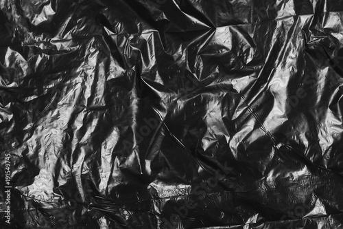 Cuadros en Lienzo black plastic bag texture and background