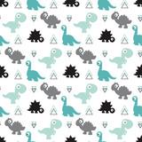 Fototapeta Dinusie - seamless dinosaur pattern