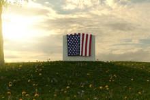 3d Rendering Of American Flag ...