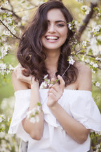 Beautiful Smiling Girl Surroun...