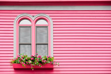 Arched Windows On A Colorful P...