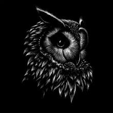 The Vector Logo Owl For T-shir...