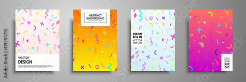 Placard templates set with abstract geometric elements Canvas-taulu