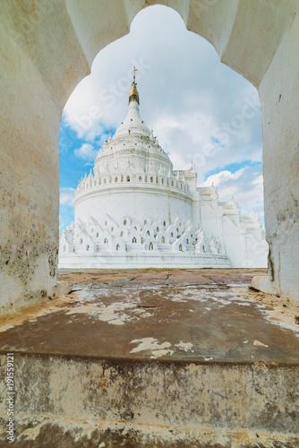 Mya Thein Tan Pagoda, Mingun, Mandalay Region, Myanmar Poster