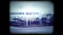 Archival Footage Of Florida Road Sign Near St. Augustine
