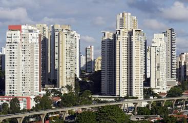Fototapeta na wymiar Urban landscape with many buildings