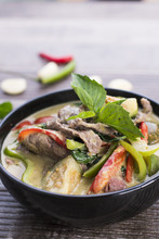 Thai Green Curry With Beef In ...
