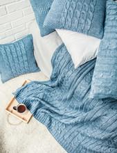 Plaid Pattern Texture Decor Interior Bedroom