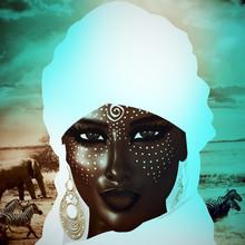 Black Arab Woman From The Saha...