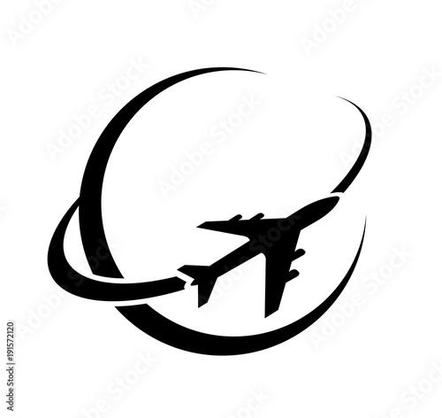 Fotografie, Obraz Logo avion aviation voyage