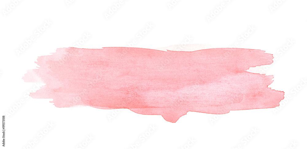 Fototapety, obrazy: Watercolor brush stroke isolated