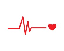 Heart Beat Line Vector