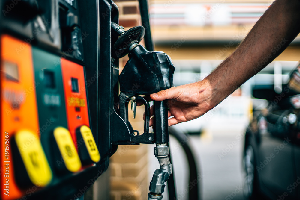 Find Me The Closest Gas Station >> Valokuva Gas Station Pump With Hand Tilaa Netista