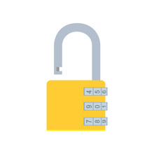 Combination Lock Padlock Vecto...