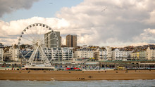 Photo Of Brighton Beach Landscape, Shot From Brighton Pier, England