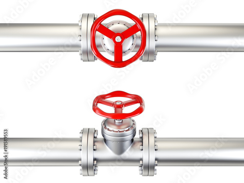 valve pipe Canvas Print