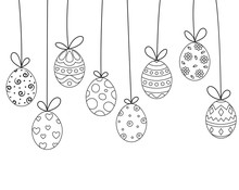 Hanging Easter Egg Doodles On ...