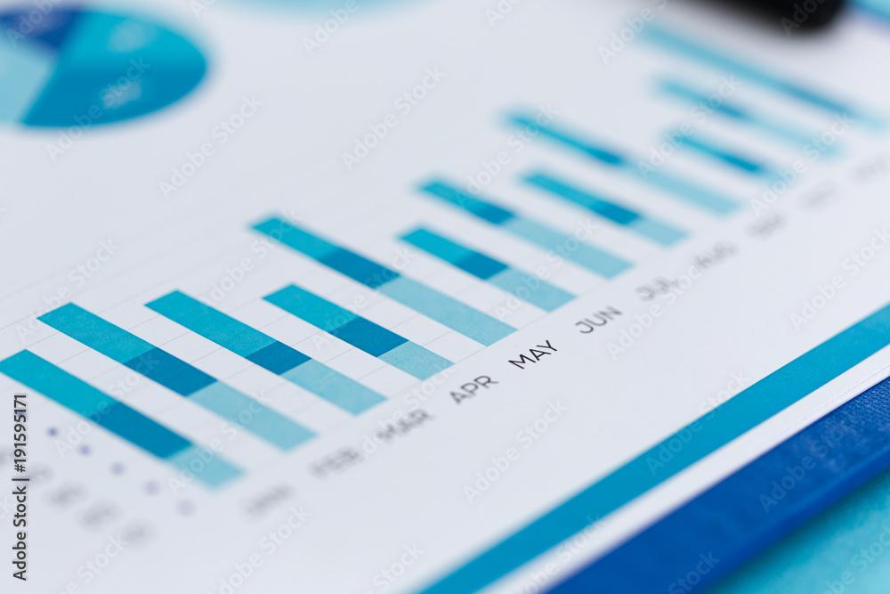 Fototapeta FINANCIAL REPORT CONCEPT