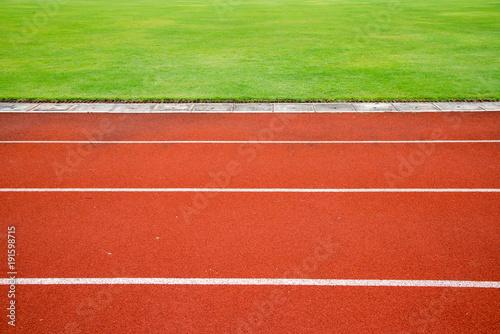 Fotografiet  Red running track
