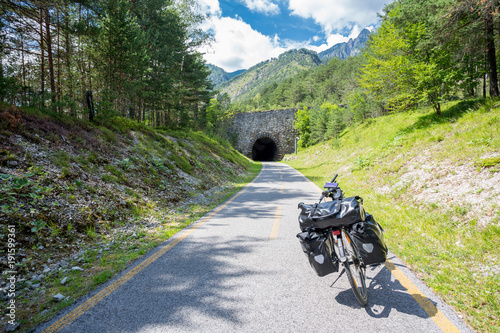 Photo Alpe Adria cycle path, Italy.