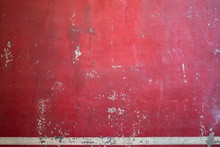 Red Painted Vintage Metal Back...