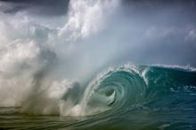 Large Wave Crashing On The Sho...