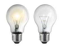Light Bulb, Isolated, On White...