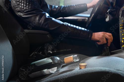 Obraz na plátně  Drunk driving concept