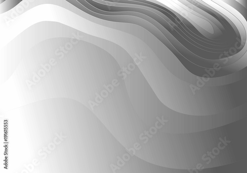 Abstract Gray And White Gradient Topographic Contours Lines Of