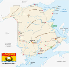 Road Map Of The Canada Atlanti...