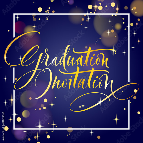 graduation invitation hand drawn lettering for graduation design