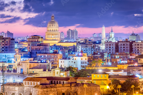 Havana, Cuba downtown skyline. Wallpaper Mural