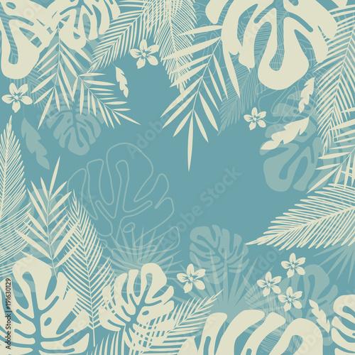 Tropikalna dżungla pozostawia tło wzór. Projekt plakatu tropikalnego. Reprodukcja Monstera. Tapeta, tkanina, tkanina, papier pakowy wektor ilustracja projektu