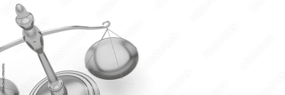 Fototapeta Balance justice bannière panoramique