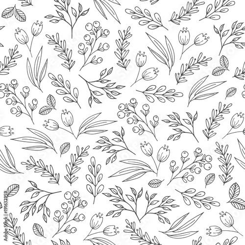 Tapety Minimalistyczne kwiatowy-wzor-z-kwiatami-roslinami