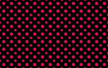 Fashionable Pattern With Two Different Sizes Pink Polka Dots Against A Black Background