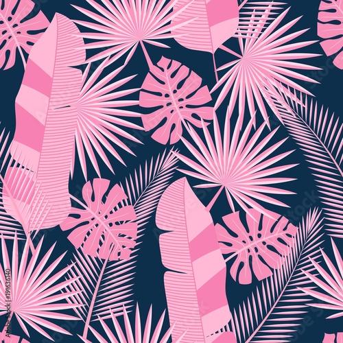 bez-szwu-tropikalnych-lisci-palm-monstera-bezszwowe-tlo-z-tropikalny-lisci