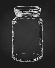 Hand Drawn Chalk Jar