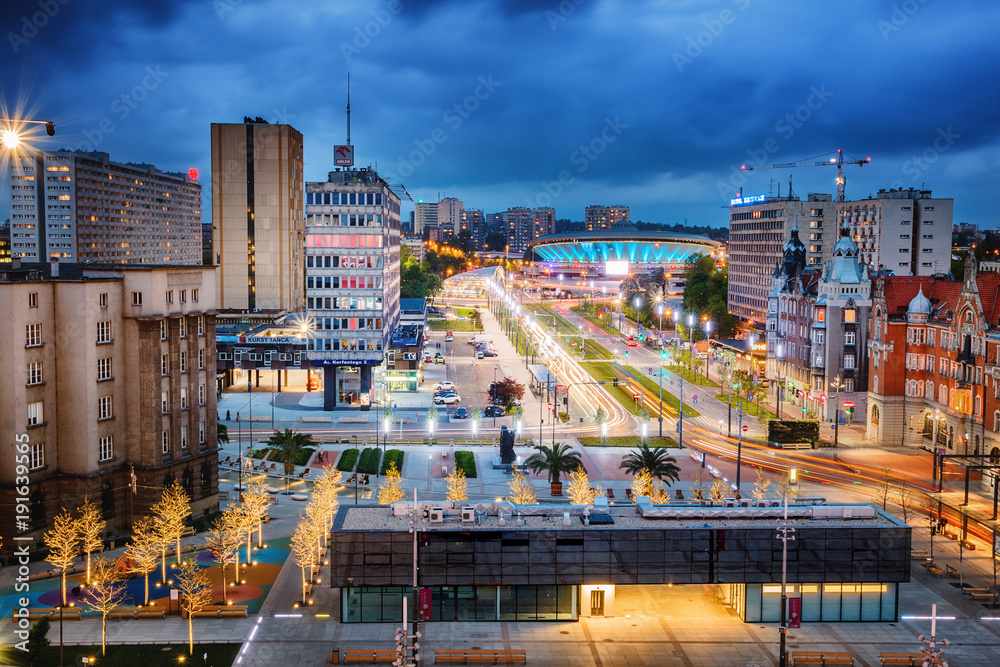 Fototapety, obrazy: Rynek Katowice