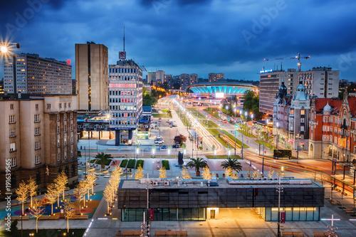 Obraz Rynek Katowice - fototapety do salonu