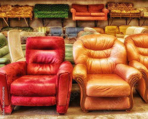 Wiederverwertung Verkauf Secondhand Gebrauchte Sitzmobel Sessel Und