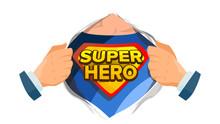 Super Hero Sign Vector. Superh...