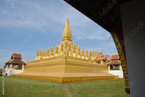 Un temple à Ventiane la capitale