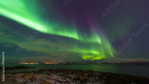 Poster Aurore polaire The polar lights in Norway. Tromso