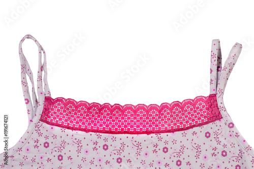 Cotton T-shirt for sleeping lace pajamas Fototapeta