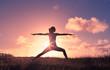 Leinwandbild Motiv Body health and balance.