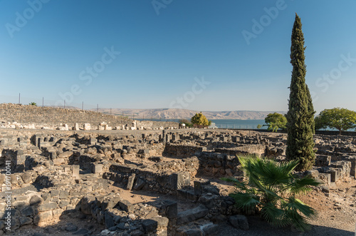 Capernaum Ruins in Israel Canvas Print