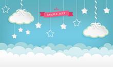 Cartoon Cloudscape Background ...