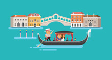 Gondola On Canal Grande In Ven...